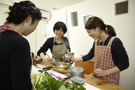 大阪料理教室レッスン中