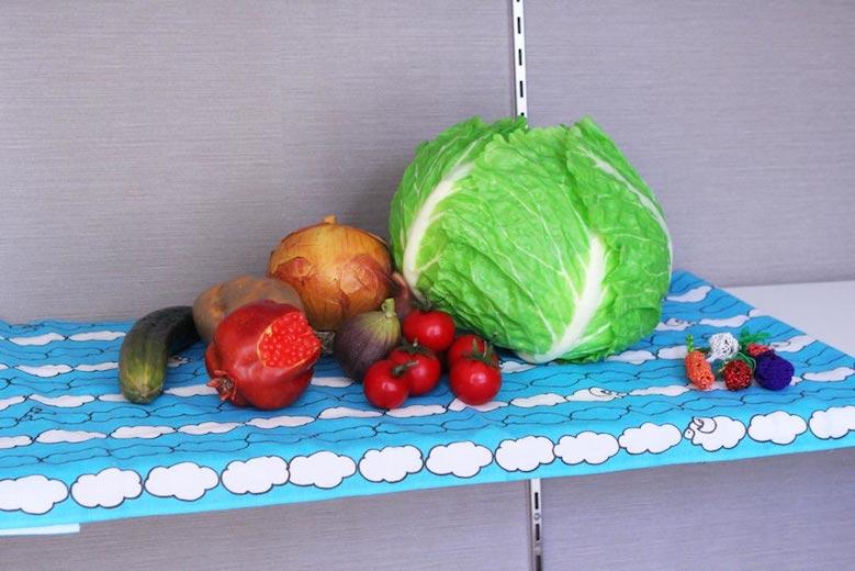 なにわの料理教室の野菜のレプリカ