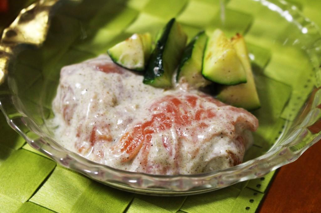 鮭のカレーヨーグ和え