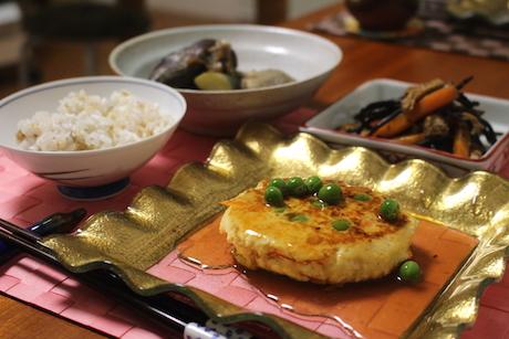 にんじん豆腐ハンバーグ