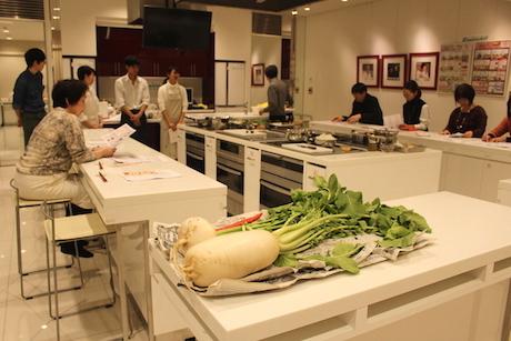 あべのハルカス近鉄本店料理教室なにわの伝統野菜、健康、和食、大畑千弦、天王寺、レシピ