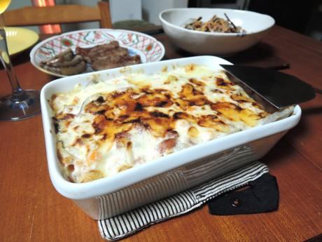 酒粕グラタン、チーズ、低カロリー、大阪、天王寺、野菜、和食、料理教室、健彩青果、大畑千弦、レシピ