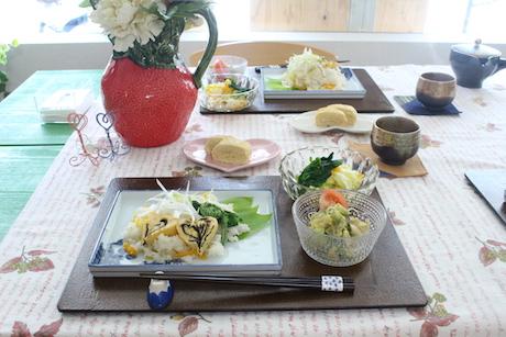 大阪、天王寺、健康、野菜、和食、料理教室、健彩青果、大畑千弦、レシピ、うるい