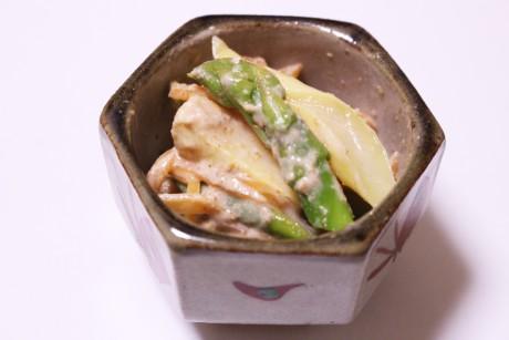 大阪、天王寺、健康、野菜、和食、料理教室、健彩青果、大畑千弦、レシピ、アスパラガスの洋風ぬた和え