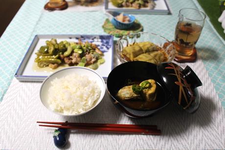 大阪、天王寺、健康、野菜、和食、料理教室、健彩青果、大畑千弦、レシピ、ソラマメの酢豚風、ハグミュージアム、焼きなす