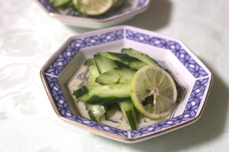 大阪キュウリの柑橘浸し、大阪、天王寺、健康、野菜、和食、料理教室、健彩青果、大畑ちつる、レシピ