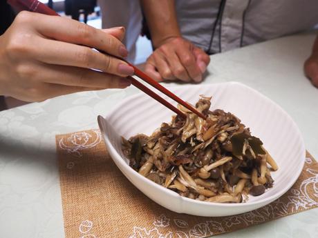 大阪、天王寺、健康、野菜、和食、料理教室、無限きのこ、健彩青果、大畑千弦、レシピ